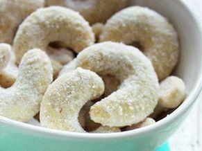 Celozrnné vanilkové rohlíčky - zdravé vánoční cukroví