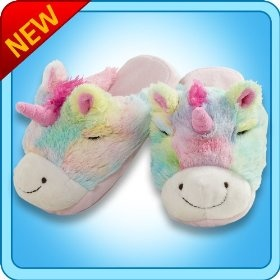 My Pillow Pets® - Rainbow Unicorn Slippers - Medium(Child's size 1-3)  Order at http://amzn.com/dp/B007NNJJC2/?tag=trendjogja-20