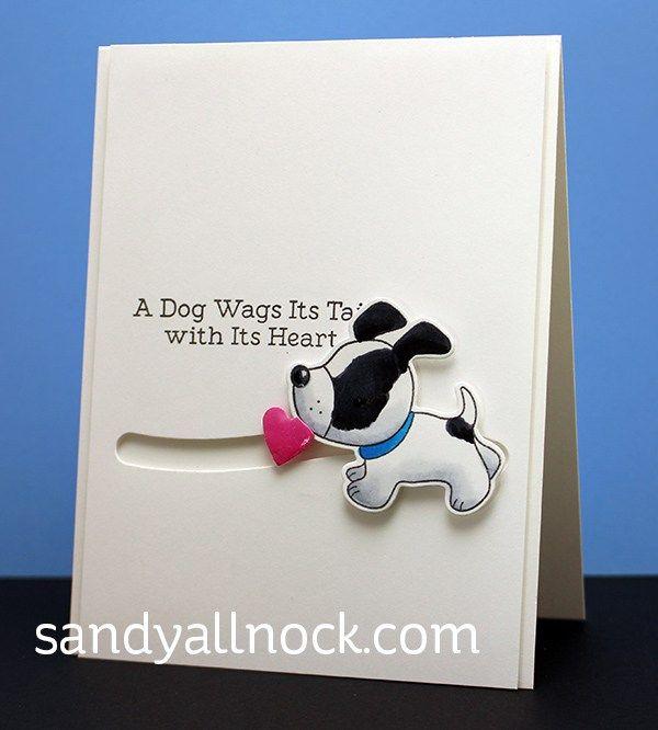 Playful Pups Stamp Set and Die-namics, Surf & Turf Die-namics - Sandy Alnock #mftstamps