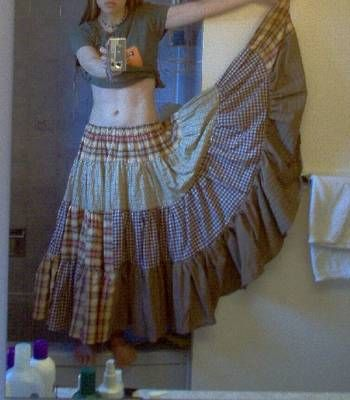 GYPSY SKIRT 'HOW TO'.... I will be doing this in a patchwork skirt approach!