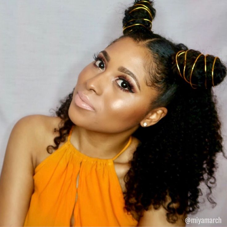 Spice girls| Bantu knots/buns with Gold Wire