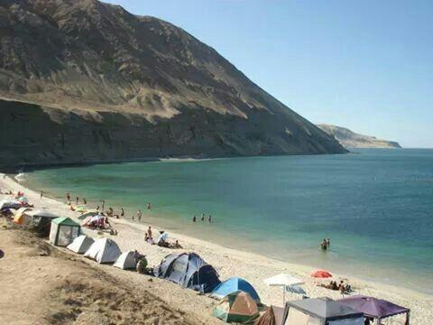 Playa en Mejillones, Antofagasta, Chile.