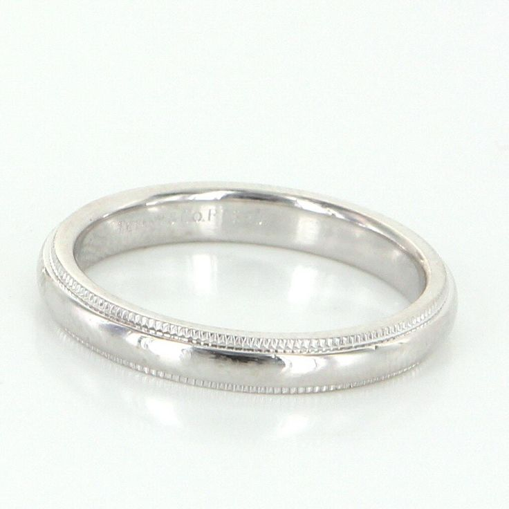 Tiffany Co Platinum 18k Gold 3mm Milgrain Wedding Band: 26 Best Images About Tiffany & Co. A Girl's Best Friend On