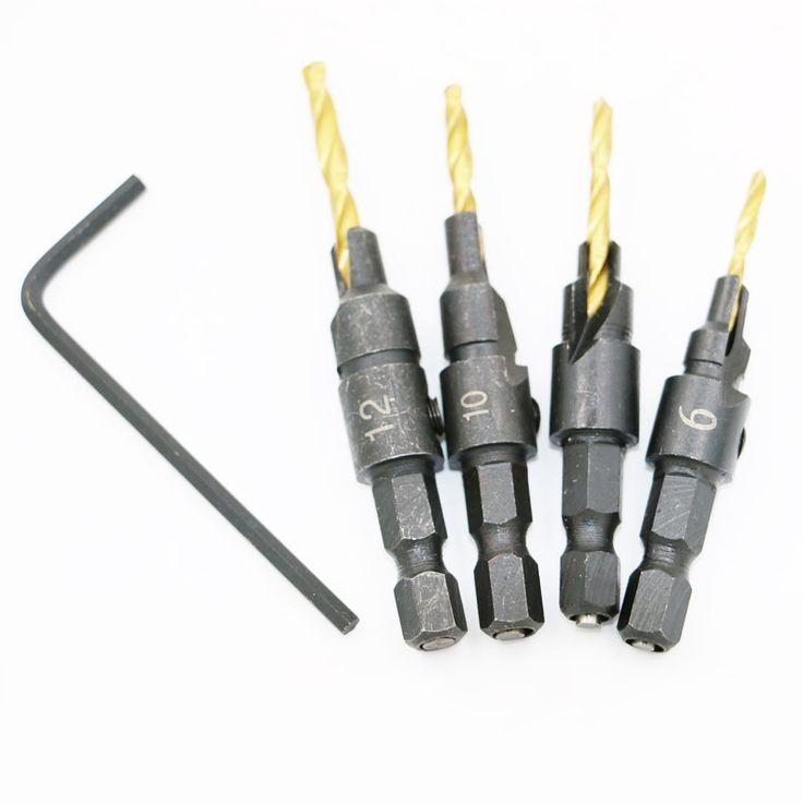 $4.48 (Buy here: https://alitems.com/g/1e8d114494ebda23ff8b16525dc3e8/?i=5&ulp=https%3A%2F%2Fwww.aliexpress.com%2Fitem%2F4PCS-Wood-Countersink-Drill-Bit-Set-Hex-Shank-Chamfer-Bore-Hole-Cutter-Woodworking-Electric-Carving-Tools%2F32676664511.html ) 4PCS Wood Countersink Drill Bit Set Hex Shank Chamfer Bore Hole Cutter Woodworking Electric Carving Tools Boring Counterbore for just $4.48
