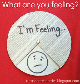 Guest post on a blog Kaleb's friend Jenn writes. This simple craft on feelings would be great for autistic/ED clients!