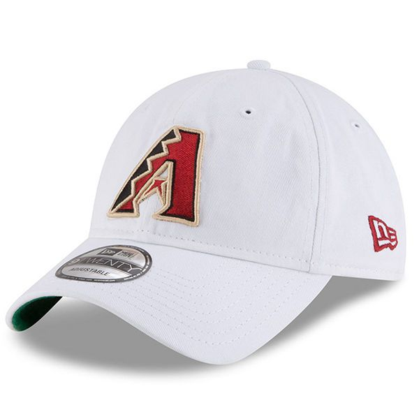 5d7c6ba6620 Men s Arizona Diamondbacks New Era White Classic 9TWENTY Adjustable ...