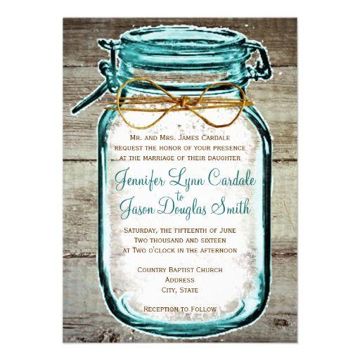 Wedding Invitations Mason Jar: 108 Best Mason Jar Wedding Invitations Images On Pinterest