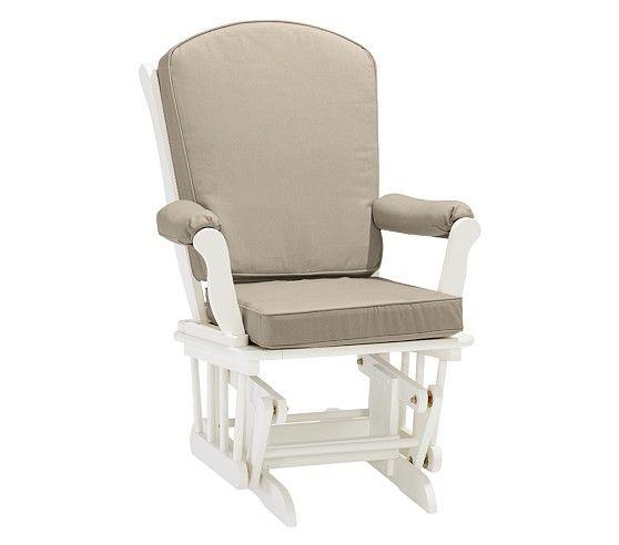 Sleigh Glider Cushion Slipcover Chair Solid Twill