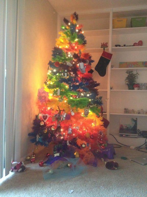 Color Burst Rainbow Christmas Tree Rainbow Christmas Tree Rainbows Christmas Christmas Tree