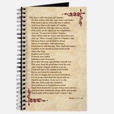 St. Crispin's Day Speech Journal, Will Shakespeare for