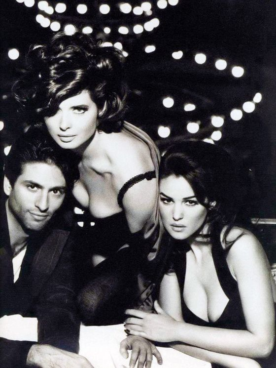 Monica Belluci & Isabella Rosselini for Dolce&Gabbana. 1992