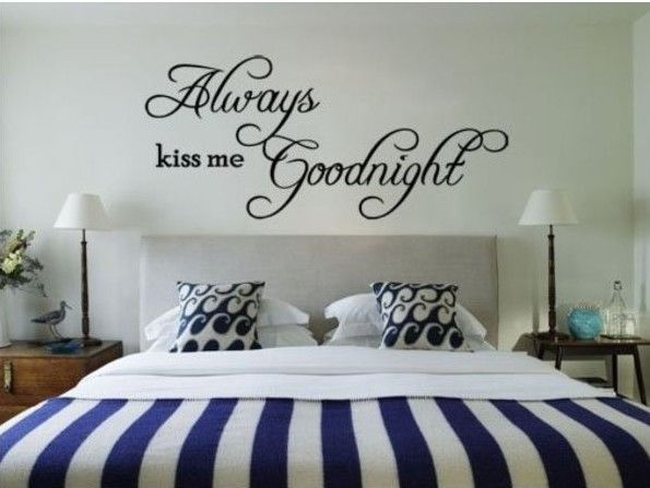 ALWAYS KISS ME GOODNIGHT Quote Vinyl Wall Decal Decor Sticker Art DIY Removable: