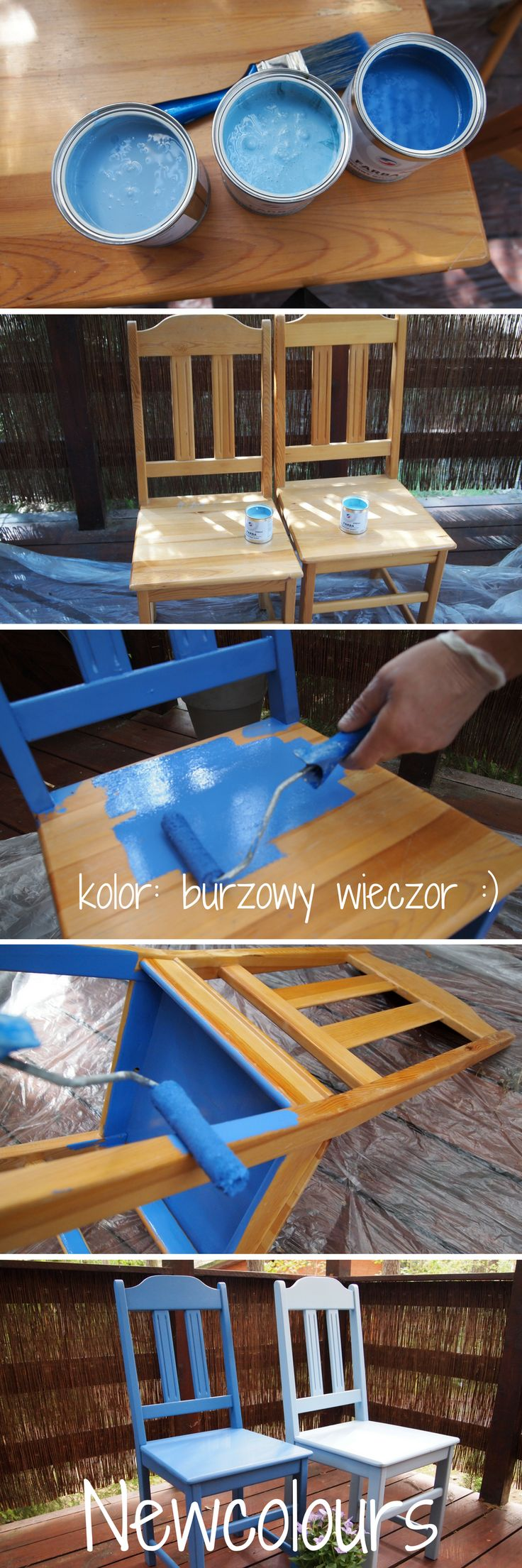 Chairs are getting a second life thanks to DIY paints NEWCOLOUR :) Nowe życie krzeseł dzięki farbom DIY NEWCOLOURS :)
