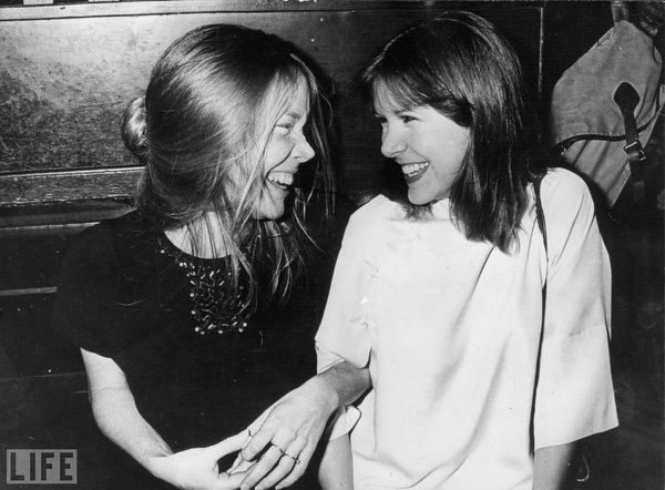 "Sissy Spacek & Carrie Fisher, 1978.  Almost Cast as Princess Leia (Star Wars): Sissy Spacek: ""Brian DePalma and George Lucas held a joint casting session for the movies each was developing at the time—Carrie and Star Wars, respectively. Spacek and Carrie Fisher both auditioned for both the telekinetic social outcast Carrie White and for spunky space-traveling princess Leia Organa."" (Photograph by Keystone/Getty Images via LIFE)."