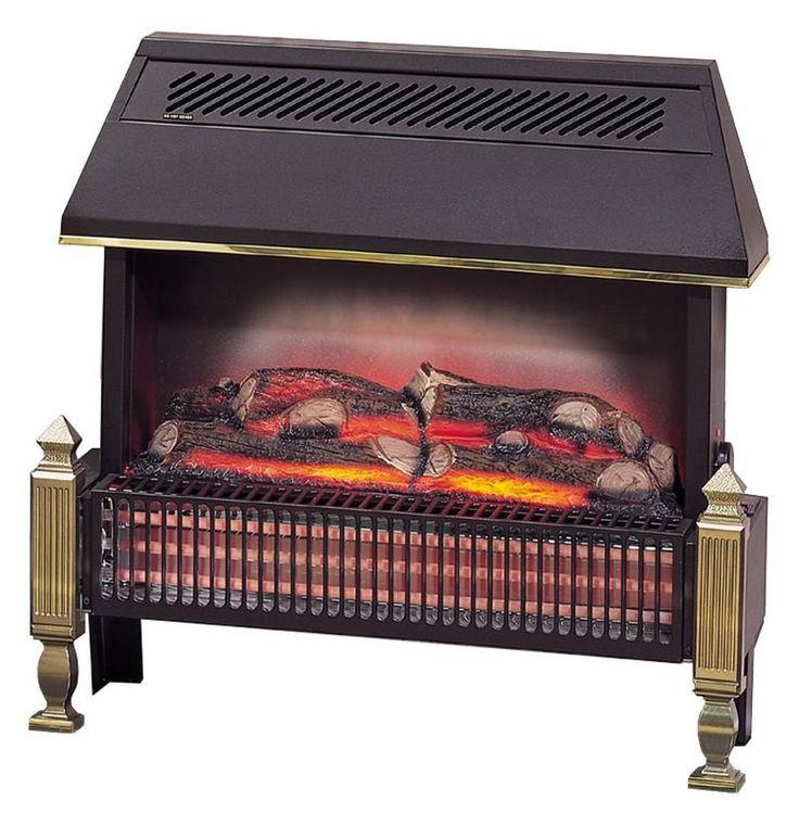 Dimplex Lyndhurst radiant bar electric fire with log effect (430RCE/B)