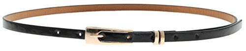 #La #vogue #Damen #Ledergürtel #Gürtel #Belt #Schmal #Läng: #103cm #(