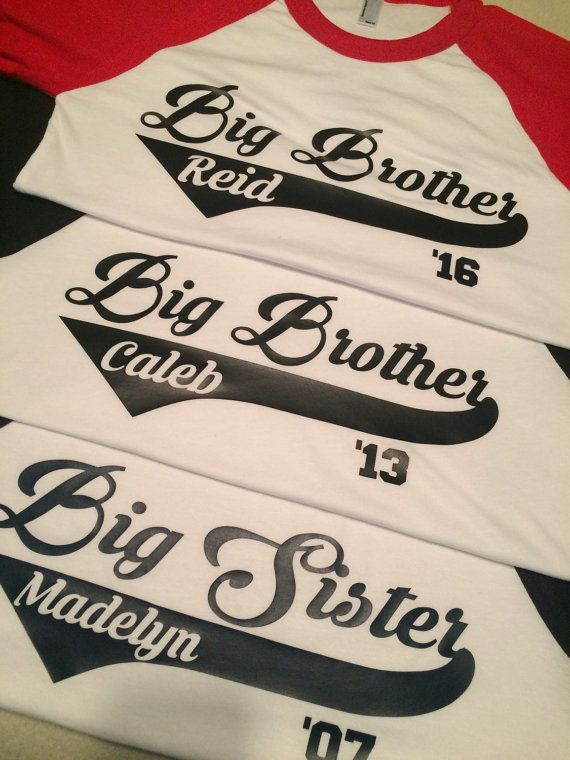 Big Brother Big Sister Raglan baseball by SouthernYankeeStyles