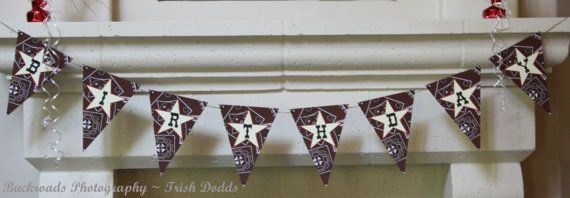PRINTABLE Birthday Banner  Hoe Down Party by BellaGreyDesigns, $10.00