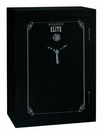 Stack-On E-48-MB-E-S-DS Elite 48-Gun Security Safe with Electronic Lock by StackOn. $1299.99. From the Manufacturer                Stack-On's Elite 48-Gun Safe with electronic lock and door storage holds 36 guns, or can be converted to hold 18 guns plus storage, or all storage. This safe is a California approved firearms safety device that meets the requirements of California Penal Code Section 12088 and the regulations issued thereunder. The electronic lock includes ...
