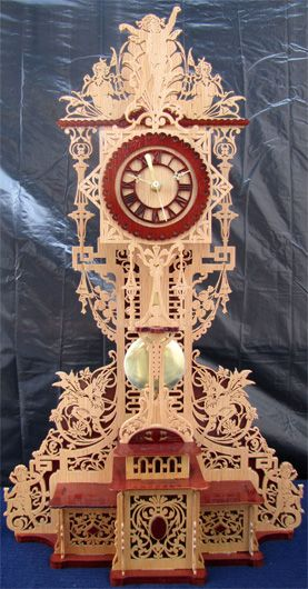 The Mantova Clock Scroll Saw Fretwork Pattern Scroll
