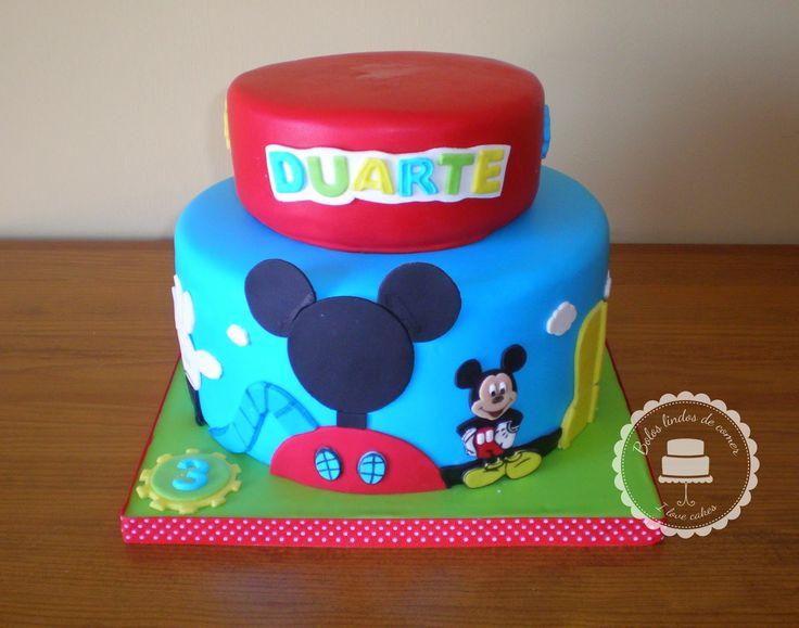 Bolos lindos de comer: Bolo Casa do Mickey / Mickey Mouse clubhouse cake