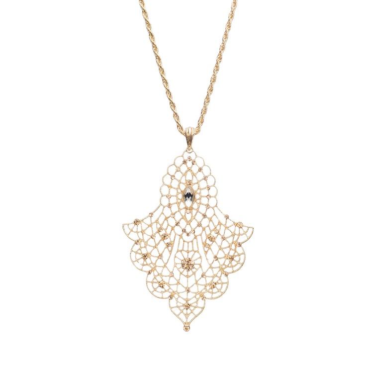 Subscription box swaps jardin lace drop pendant necklace for Jardin necklace