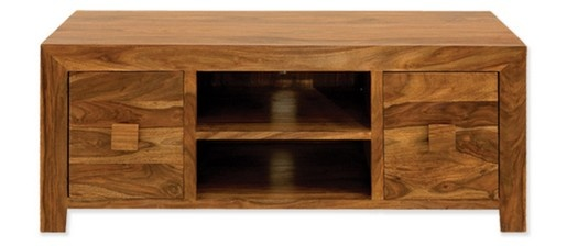 Cube Sheesham Plasma TV Cabinet