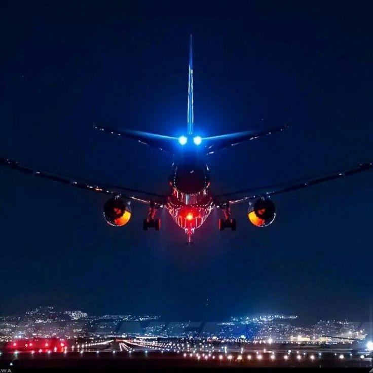 картинки самолет ночь большинстве случаев при