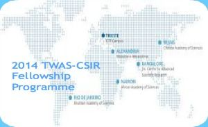 2014 TWAS-CSIR Fellowship Programme for Developing Countries' Scholars, India , and applications are submitted till 31st August of each year. Council of Scientific and Industrial Research is offering fellowship programme for developing countries' scholars. CSIR will provide a monthly stipend to cover for living costs, food and health insurance. - See more at: http://www.scholarshipsbar.com/2014-twas-csir-fellowship.html#sthash.hWlyEy1f.dpuf