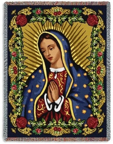 Virgin Mary Of Guadalupe >> Personalized Our Lady of Guadalupe II Spanish Tapestry Throw | N.S.Guadalupe | Pinterest ...