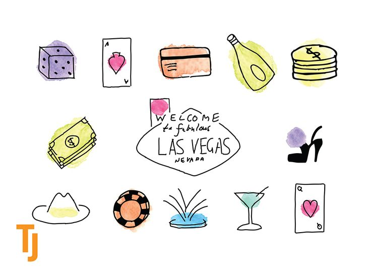Icons inspired by #LasVegas #graphicdesign #iconography