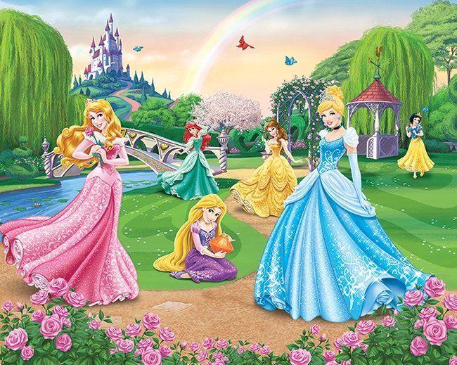 TAPETY DLA DZIECI - FOTOTAPETY - Disney Princess  - Sklep DecoArt24.pl