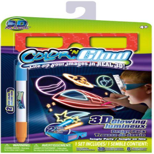 3D Sihirli Boya Kalemi ve Gözlüğü - 3D Magic Color Glow - ÇOCUK, BEBEK - Durbuldum.com - okul