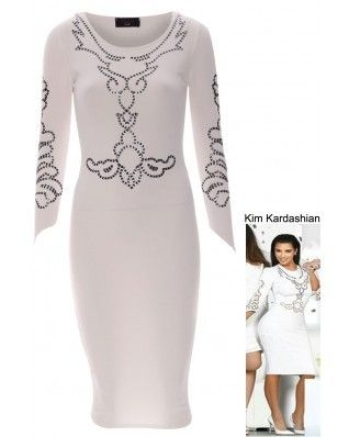 KIM KARDHASIAN CELEBRITY MIDI DRESS via Pop Apparel                  . Click on the image to see more!