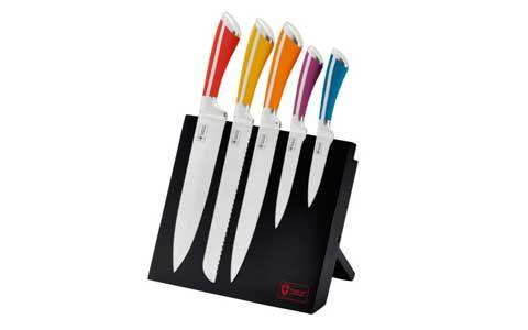 farvet knivsæt fra Switzerland Royalty