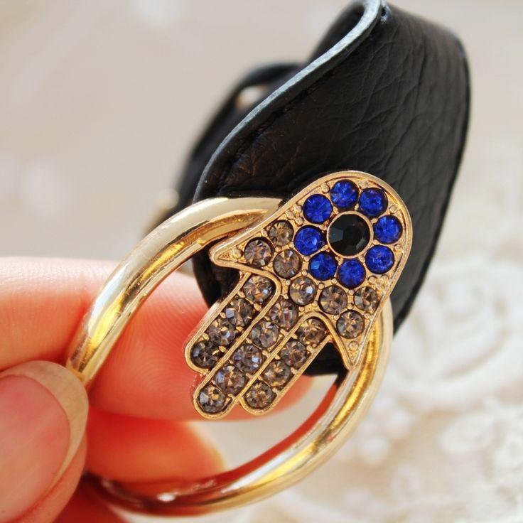 Турция позолоченные harmsa фатима рука синий дурной глаз кристалл для женщин из розового темно-синий браслет цепочка