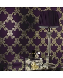 wallpaper accent for the bedroom. LOVE love love the purple
