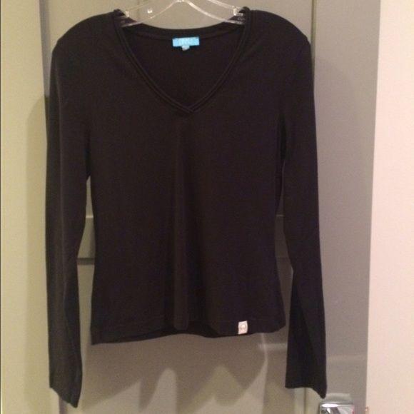 Escada Sport Black V-Neck Tee Black long sleeve v-neck tee by Escada Sport. Escada Tops Tees - Long Sleeve