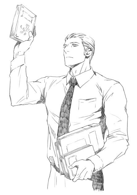 Hetalia, Germany. He looks like a hot librarian. I'm all for books and Ludwig.