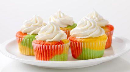 Tie-Dye Fruity Cupcakes #kraftrecipes