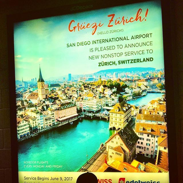 This sign at San Diego airport got me all sentimental - for the first time since I left Switzerland #sandiego #airport #sign #zurich #yayzurich #switzerland #flight #swiss #swissness #homesick? #nah #lol #travel #traveling #solotravel #explore #exploretheworld #wanderlust #crappypics #sandiego #sandiegoconnection #sdlocals #sandiegolocals - posted by Claudia Stoecklin https://www.instagram.com/claudia_stocklin. See more post on San Diego at http://sdconnection.com