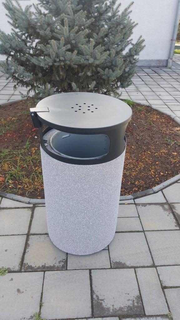 Public concrete bin