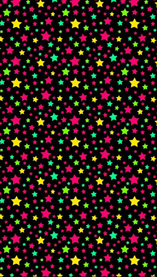 Color stars phone wallpaper