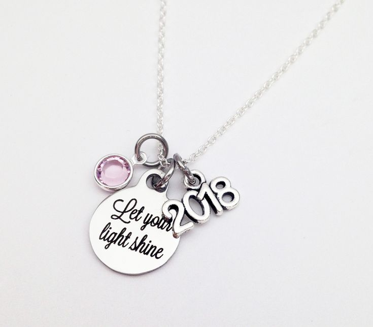Graduation Necklace 2018, Graduation Gift, Graduation Gifts for Girls, Graduation Gift for Best Friend, Personalized Graduation Gift for Her by SincereImpressions on Etsy