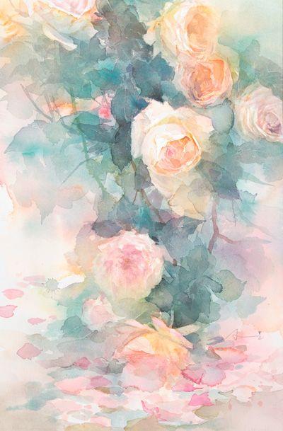 中村愛水彩画作品「甘い香り」