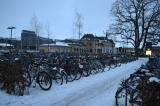 the bike parking lot at the central station