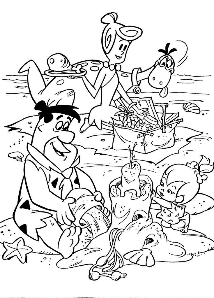 flintstones printable coloring pages for kids download free online flintstones characters coloring book worksheets pages