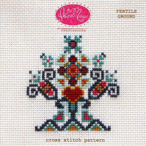 Grow your creativity! This cross stitch pattern includes both a color coded chart and a symbol coded chart. The pattern also includes helpful getting started tips for cross stitch as well as recommend