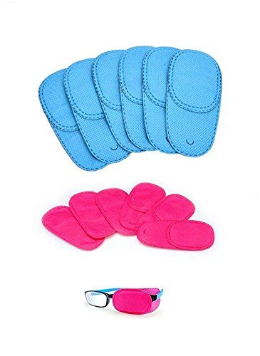 51d983aa27fd Alfto Children Adult Eye Patch for Glasses to Treat Lazy Eye/Amblyopia /  Strabismus 12pcs