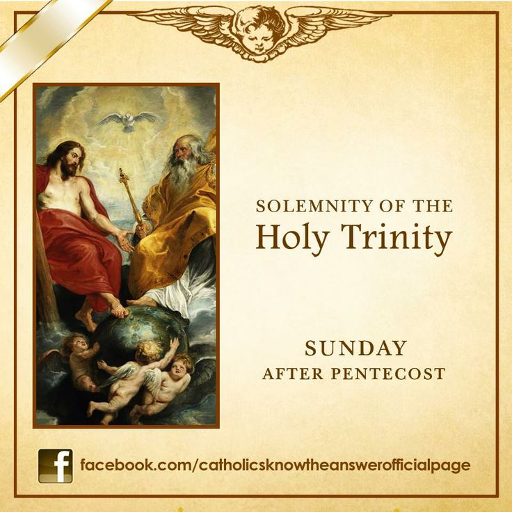 26 MAY 2013 - THE MOST HOLY TRINITY